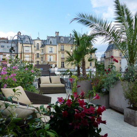 Terrasse au cœur de Paris